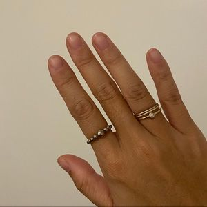 Pandora string of beads ring